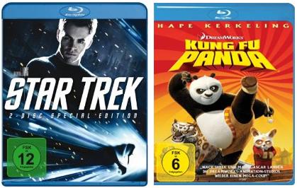 Star Trek (Blu-ray) und Kung Fu Panda (Blu-ray) für je 9,95€