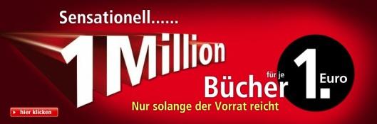 1.000.000 Bücher für 1€ inkl. Versand bei Weltbild