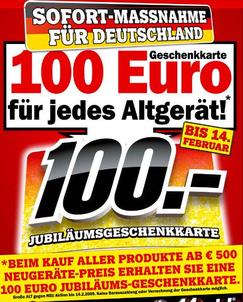 Media Markt - Alt gegen Neu Aktion - 100€ Gutschein