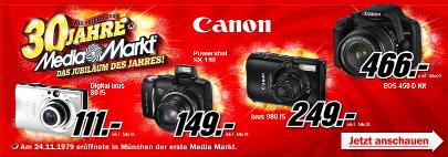 Amazon unterbietet Media Markts Canon Digitalkamera Aktion
