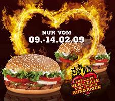 Valentinswoche bei Burger King, weitere Gutscheine bei McDonald's