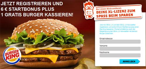 Gratis Big King in 5 Burger King Filialen (nur Wien)