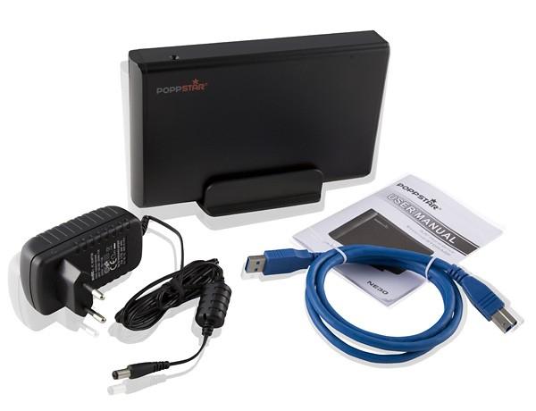 Poppstar NE30 externe Festplatte 2TB mit USB 3.0 für 66,99€