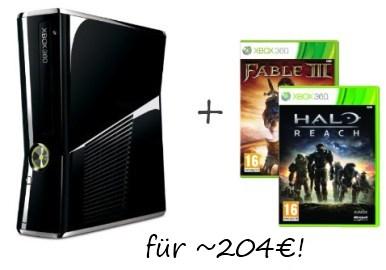 Toller Preis: Xbox Slim 250GB + 2 Spiele für 204€!