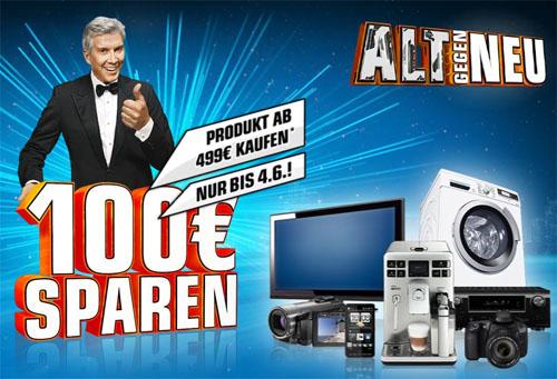 Saturn Alt gegen Neu Aktion - 100€ Rabatt auf Produkte ab 499€