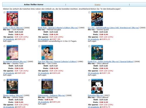 Amazon kontert Saturn Angebot und bietet auch 3 Blu-rays für 25€ an