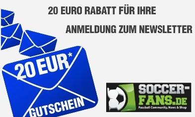 Top! 20€ Sportmode-Gutschein ohne Mindestbestellwert bei soccer-fans.sc24.de!