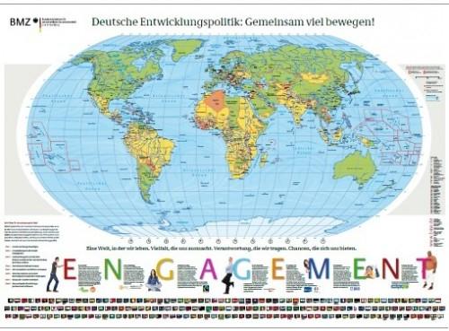 Gratis Weltkarte (138 x 98 cm) auf BMZ.de bestellen