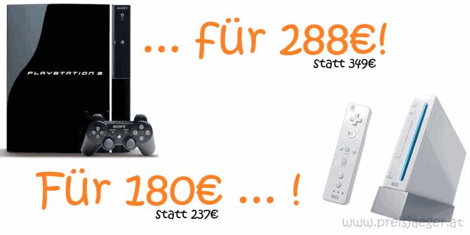 28% Rabatt bei Interspar! - PlayStation 3 ab 288€, Nintendo Wii ab 180€ ...
