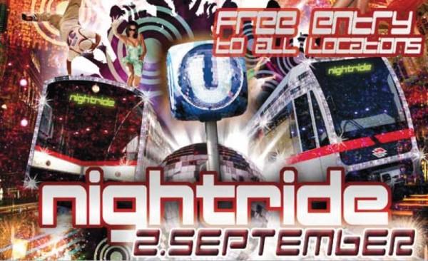 Nightride-Event: Gratis Fahrschein + Eintritt in Wiener Locations am 2. September *Update*