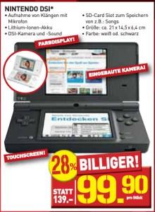 Nur kurze Zeit: Nintendo DSi für 99,90€ bei Penny *Update* Wieder da!