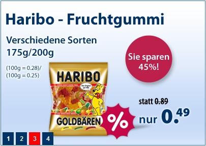 Haribo Goldbären (200g) für 0,39 € statt 0,89€ pro Tüte (15€ MBW) *Update* Jetzt billiges Kopierpapier und Duschgel
