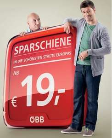 ÖBB SparSchiene: Innerhalb Österreichs ab 9€ oder europäische Städte ab 19€ pro Strecke