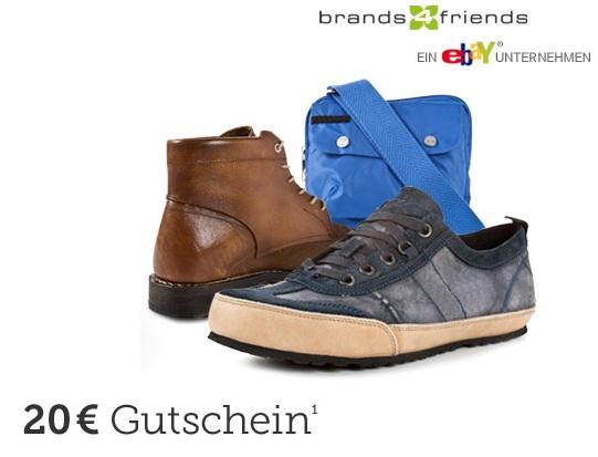 Kostenloser 20€ brands4friends Gutschein (mit 20€ MBW) - Wieder da!