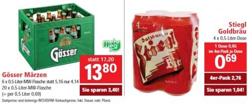 25% Rabatt auf alle Biere bei Interspar (diesen Freitag und Samstag)