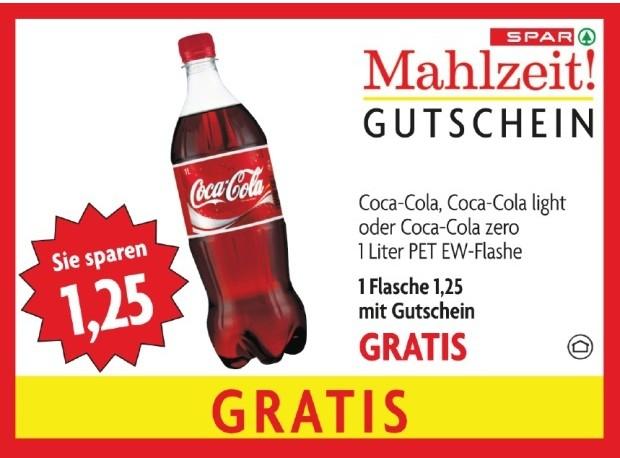 Kostenlose Coca Cola (1 Liter) in jedem Spar, Eurospar und Interspar! *Update*