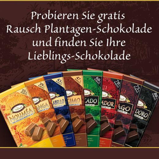 Kostenloses Schokoladen Probierpaket für Facebook Fans
