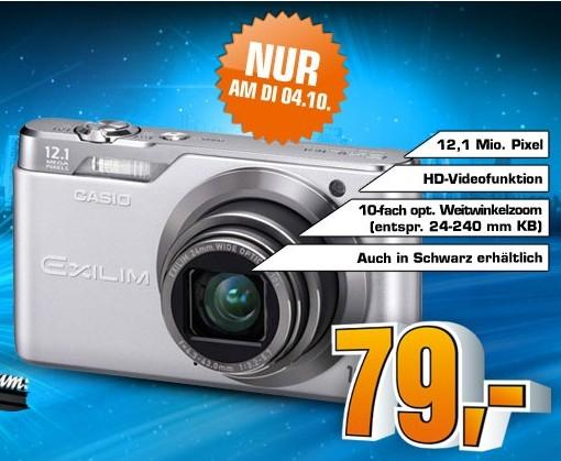 Casio Exilim EX-H5 (12 MP und 10x opt. Zoom) für 79€ statt 108€ bei Saturn!