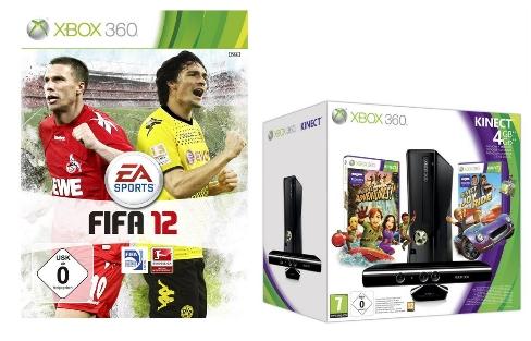 Amazon Konter: Xbox 360 4 GB Kinect + FIFA 12 + 50€ Gutschein - für 294,99€