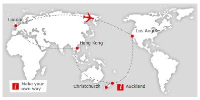 Round The World Ticket für 870€: London - Los Angeles - Neuseeland - Hong Kong und zurück