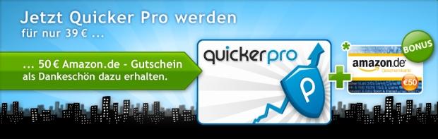 50 Euro Amazon Wertgutschein für 39 Euro bei Quicker