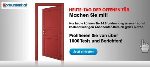 Konsument.at; nur heute kostenloser Zugriff auf über 1.000 Tests und 11.000 Artikel!