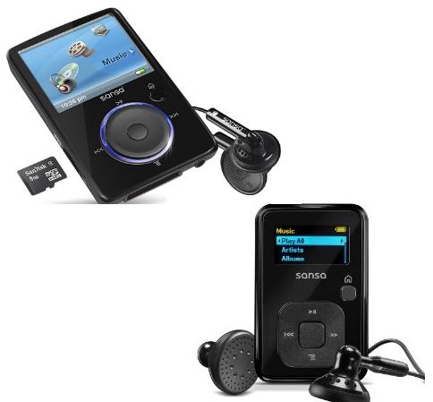 Ebay: MP3 Player Sansa Clip+ 4GB für 22,99€ / Sansa Fuze 4GB für 28,99 inkl. Versand
