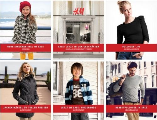 Sale bei H&M 25% auf den teuersten Artikel + 5€ Rabatt pro Bestellung