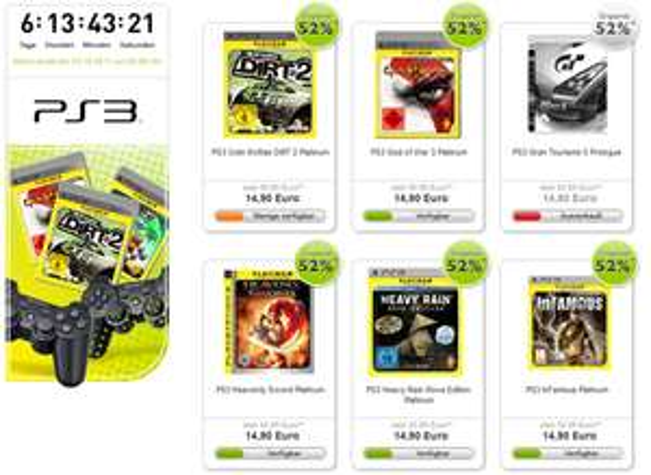 Viele PS3 Platinum Games für 15 Euro - unter anderem God of War 3, Heavy Rain