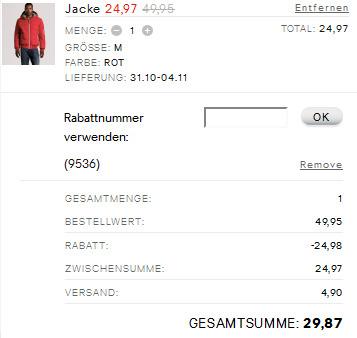 50% Rabatt auf teuersten Artikel im H&M Onlineshop! *Update*