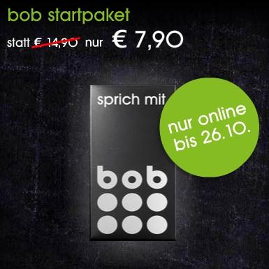 bob Startpaket (SIM-only mit 100 Freieinheiten) für nur 7,90€ statt 14,90€!