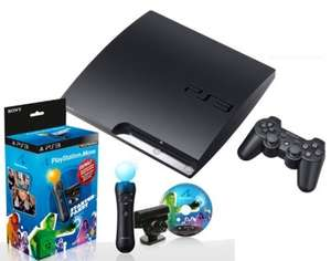 PlayStation 3 Slim 160GB + Move Starter Paket für 219€