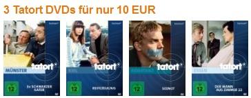 Amazon: 3 Tatort DVDs für nur 10 Euro inkl. Versand