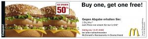 [Gutscheine] McDonalds Gutscheine zum Ausdrucken