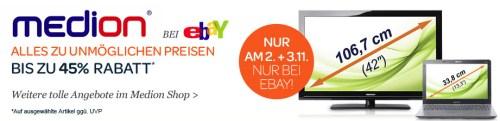 """Großer Medion Abverkauf bei Ebay - 15"""" Notebook für 407€, Nokia C5 für 76€ und mehr"""