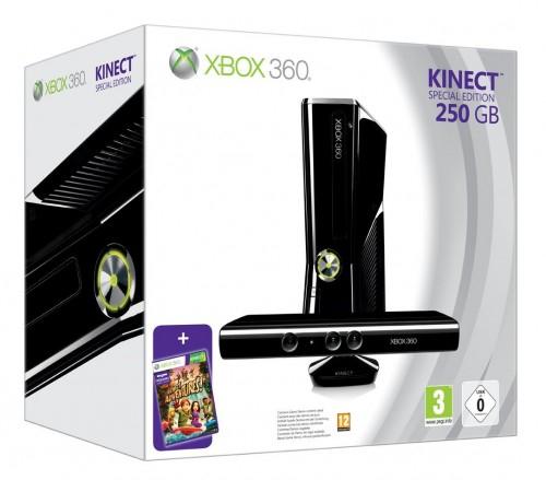 XBox 360 Slim 250GB Kinect Bundle für 289 Euro