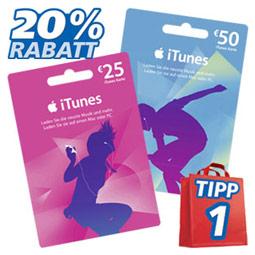 20% Rabatt auf iTunes Guthaben bei real,-