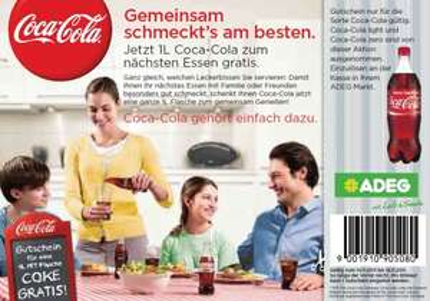 Gratis Coca Cola (1L) bei ADEG Österreich - nur noch heute und morgen!
