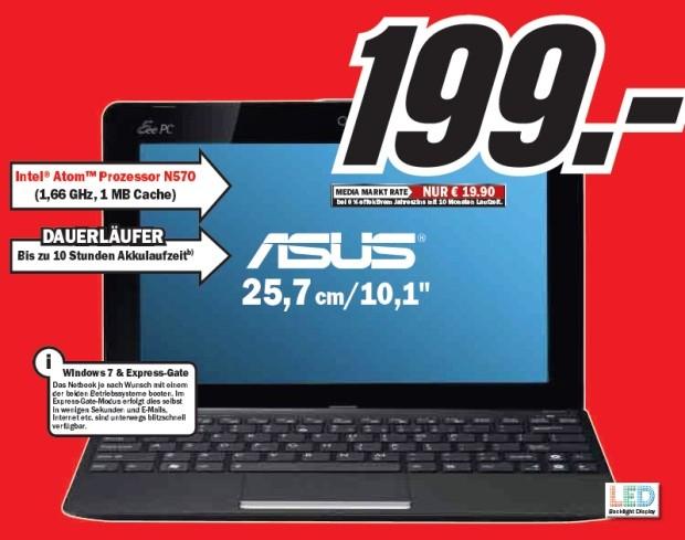 ASUS Eee PC R011PX (Netbook) für 199€ statt 236€