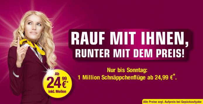 Flüge mit Germanwings für 25 Euro inkl. Steuern und Gebühren