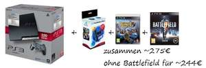 Tolles PS3 Angebot: Konsole + Move Pack + Move Game für ~244€