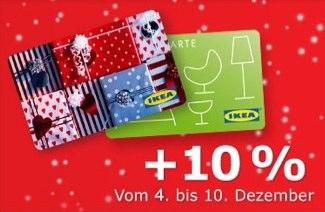 IKEA Geschenkkarte kaufen und 10% Bonus oben drauf