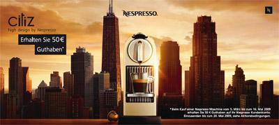 50€ Nespresso Cashback Aktion