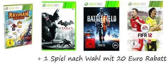 Xbox 360 4GB + Kinect + Carnival + 3 Monate Gold für 222 Euro statt 253 Euro *UPDATE* wieder da + Wii Bundle