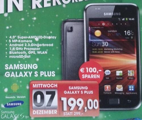 Samsung Galaxy S Plus für nur 199€ statt 269€ bei Libro! *Update*