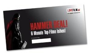 6 Monate Lovefilm Flatrate für nur 18,99 Euro