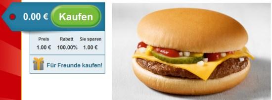 Nur für Vorarlberger: Gratis McDonald's Cheeseburger