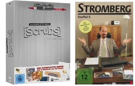 Scrubs komplette Serie für 65€ und Stromberg Staffel 5 für 15€ auf DVD