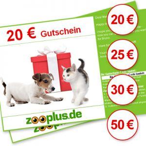 19% Rabatt auf Zooplus Geschenkgutscheinen