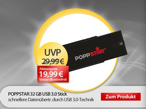 Poppstar 32GB USB 3.0 Stick für 20 Euro